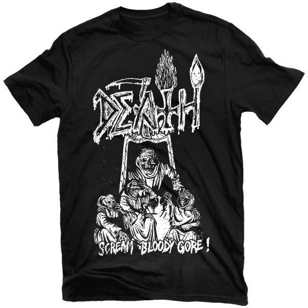 Line Drawing T Shirt : Sound of records death scream bloody gore line art t