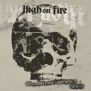 High On Fire - Spitting Fire Live Vol 1 and Vol 2 - Röd-Grå LP