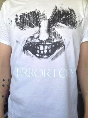 Terrortory - City Of Ghosts - white t-shirt