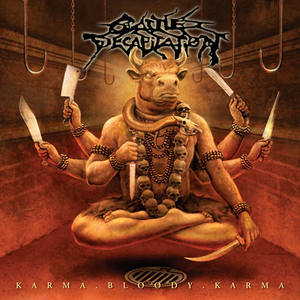 Cattle Decapitation - Karma Bloody Karma - Orange-röd LP