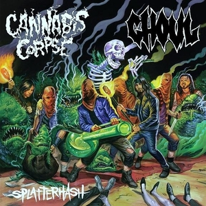 Ghoul / Cannabis Corpse - Splatterhash - Orange LP