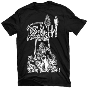 Death - Scream Bloody Gore line-art - t-shirt