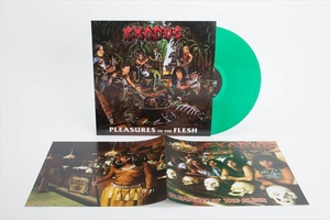Exodus - Pleasures Of The Flesh - Grön LP skadat hörn