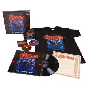 Saxon - Battering Ram - LP-box-2CD-nedladdning-t-shirt